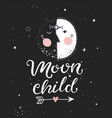 moon child poster vector image