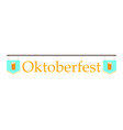 oktoberfest party background vector image