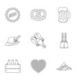 oktoberfest set icons in outline style big vector image vector image