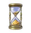 old gold hourglass vector image