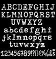 old typewriter font vintage grunge letters vector image vector image