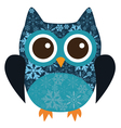 owl snowflake vector image vector image