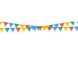party flags decoration for holiday flat vector image vector image
