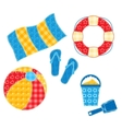 Patchwork beach set vector image