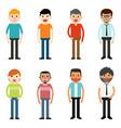 people characters men vector image vector image