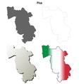 Pisa blank detailed outline map set vector image vector image