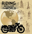 Riding around the world vector image