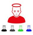 sad holy man icon vector image vector image