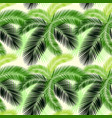seamless color palm leaves pattern vector image vector image