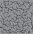 seamless pattern with brains in monochrome vector image vector image