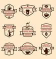 set coffee shop emblems design elements vector image vector image
