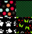 set of seamless pattern backgrounds vector image