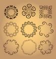 set of vintage design elements5 vector image vector image