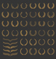 set of wreaths and branches design elements for vector image