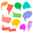 set retro comic empty colored speech bubbles vector image vector image