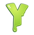 slimy font type letter y vector image vector image