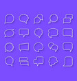 speech bubble simple paper cut icons set vector image