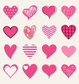 St Valentines day flat design icon set Love vector image
