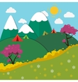 Summer Mountain Camping Landscape vector image