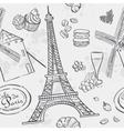 texture with the image of the Eiffel Tower and the vector image vector image