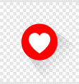 the heart like and love icon vector image vector image
