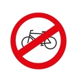 traffic bicycle prohibited road isolated vector image vector image