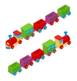 Transportation Train Toy Isometric View vector image