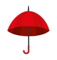 umbrella open striped red icon vector image