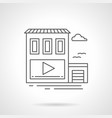 video ads on store wall flat line icon vector image vector image