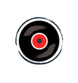 vinyl recording tape for music vector image vector image