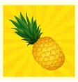 yellow pineapple background vector image vector image