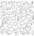 line style icons seamless pattern weather vector image