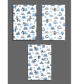 Set of greeting card templates with arctic vector image