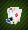 The set of casino elements vector image