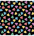 Abstract cartoon style diamond seamless pattern vector image vector image