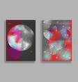 abstract pale red and gray cosmic backgrounds vector image vector image