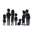 all family members gathered together card vector image