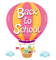 Back To School With Character On Balloon vector image vector image