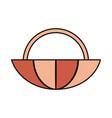 basket vector image vector image