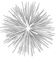 black hole explosion radial lines vector image