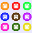 Bus icon sign Big set of colorful diverse vector image