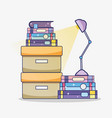 cabinets with books vector image
