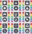 Clock Tray Lock Gamepad MP3 player Cursor vector image vector image