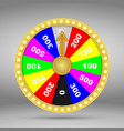 colorful wheel fortune or luck vector image vector image