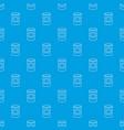 cosmetic jar plastic pattern seamless blue vector image