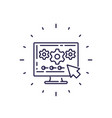 data processing line icon vector image vector image
