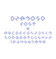 diamond regular font alphabet vector image