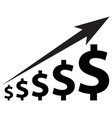 dollar increase icon vector image