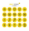 easy icons 40c e-commerce vector image