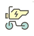electric motorcycle icon design 48x48 pixel vector image